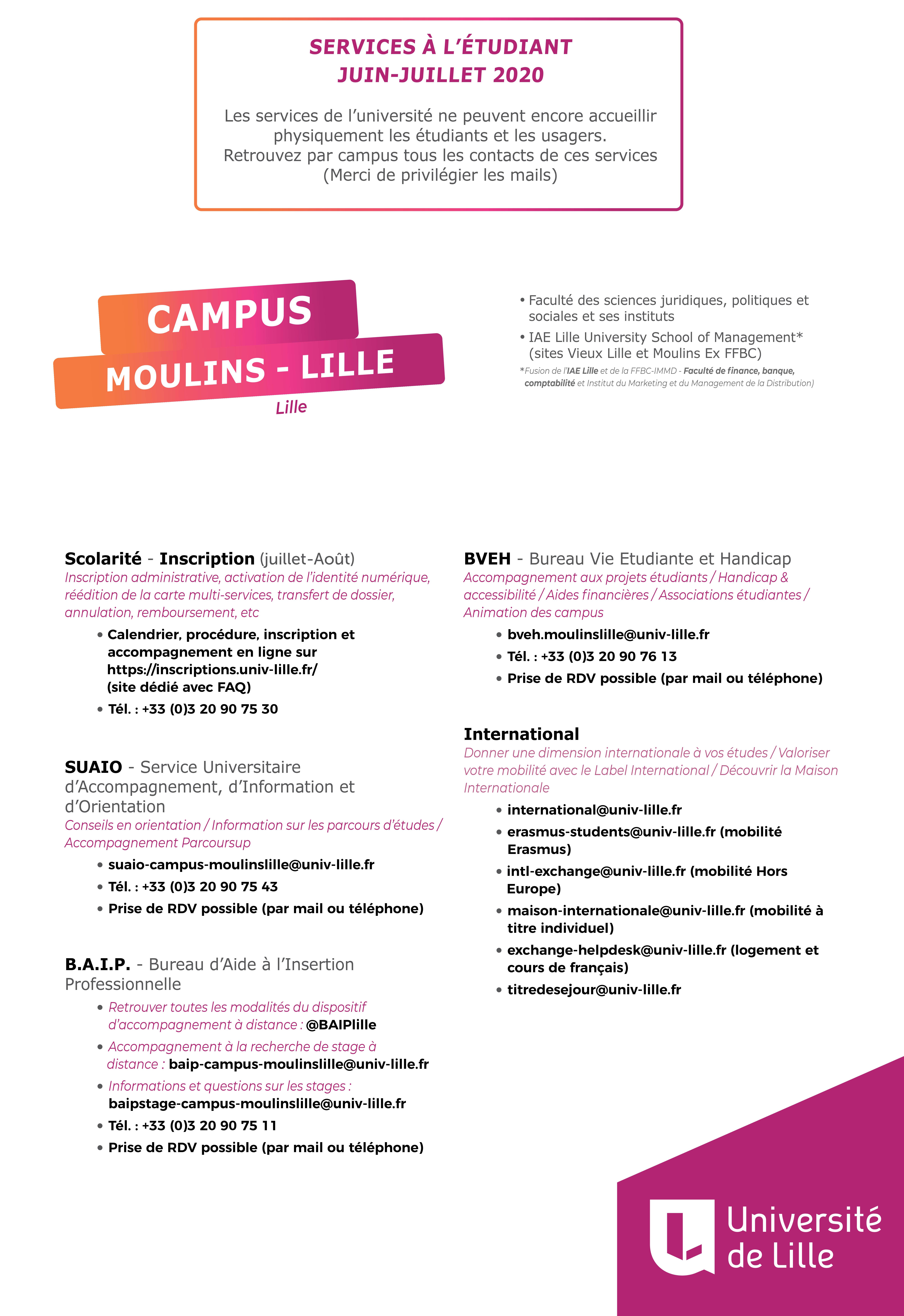 Calendrier Universitaire Lille 3 2021 Les dates d'inscriptions pour l'année 2020 2021   Faculté des